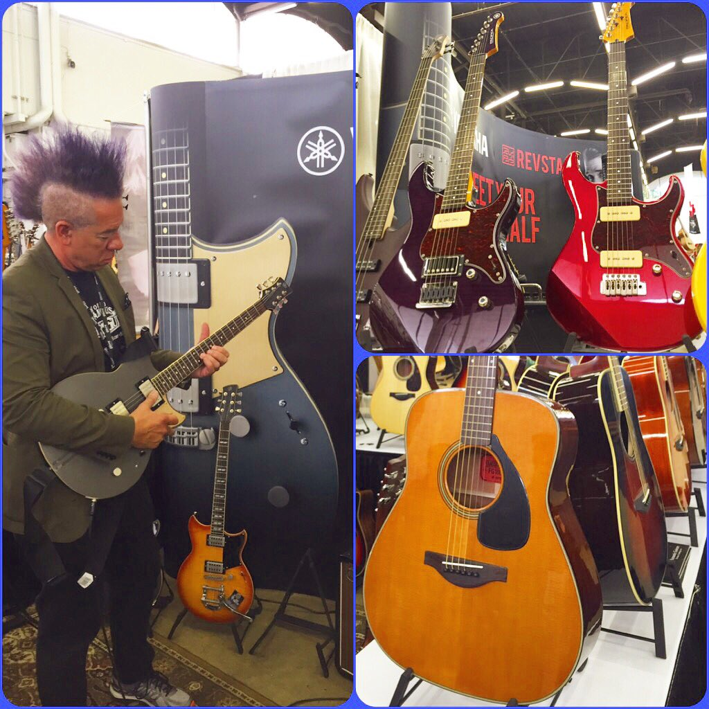 Day 2 Dallas Guit Fest! Great hanging w/ you yesterday! You're welcomed to stop by & play! #YamahaGuitars #DIGF2016 https://t.co/XWG8PH4LPV