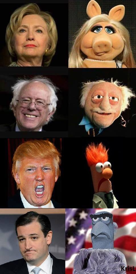 Muppets vs US Presidential Candidates https://t.co/89pY9A1uvR