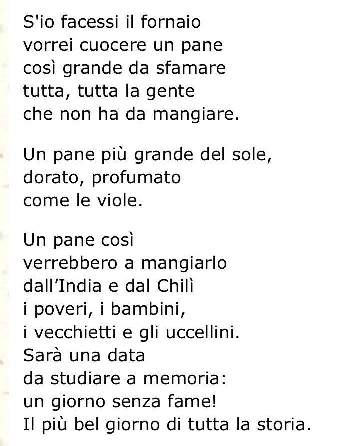 "Gianni Rodari, IL PANE Da ""Filastrocche in cielo e in terra"" https://t.co/piHIZWMAVZ"