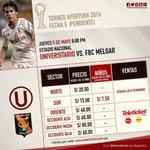 ???? Partido pendiente [Apertura - Fecha 5] ⚽ @Universitario vs Melgar ???? Jueves 5 mayo ???? 8:00pm ???? Estadio Nacional https://t.co/YMCtiUD8KB