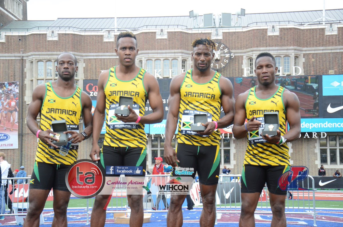 Jamaica 38.70 beat USA Blue 39.02 in the men's 4x1 #PennRelays Coverage by IG: WIHCON and Caribbean Airlines https://t.co/xrvWV6RojH