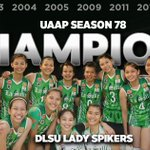Ang mga bagong kampeon! After a 2 year break the crown is back in Taft Ave. #AllinLaSalle https://t.co/L42LzbSx4l