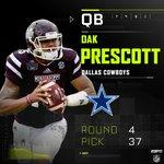 Dallas gets their QB in Dak Prescott with their 4th round pick. #DALpick https://t.co/dGS5drAcbm