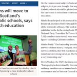 Does SNP agree with Greens bigoted policy of banning Catholic schools? In 2011 64% of SNP members supported the ban https://t.co/fJcEof9lod