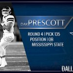 Welcome to Dallas @15_DakP from @HailStateFB #CowboysDraft https://t.co/f1ZrvVIaEB