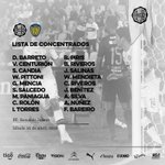 Lista de concentrados de Olimpia para el duelo de mañana. 18 jugadores https://t.co/t5j7WaIovp