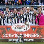 Pics | Celebrations at East End Park today as @officialdafc received the #LadbrokesL1 trophy. RT if you were there! https://t.co/196JUFE542
