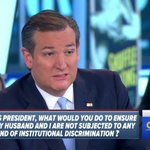 Ted Cruz ignores gay Republican concerned that 'religious liberty' equals discrimination https://t.co/Bj9uZord7W https://t.co/atCNFWaak4