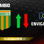 #LaLigaxRCN ENV 2-0 MIL 66 ⚽️ Cambio en @EnvigadoFC. Entra: Jorge Segura Sale: Jéfferson Gómez https://t.co/ammmWmbsMU