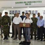 En Arauca ratificamos orden a la Fuerza Pública: perseguir con contundencia al ELN mientras no dé muestras de paz https://t.co/6gJFAr34gG