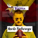 German WR @MoBoehringer is heading to the Minnesota @Vikings at #180 overall! #NFLDraft https://t.co/yAaCjApIvr