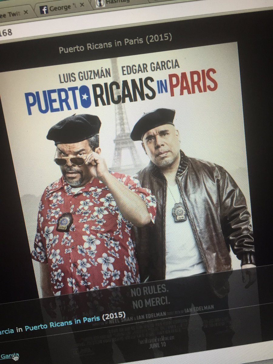 Rosario, Rosie, Luis & Edgar get leads in a major release... #SupportThisFilm! #PuertoRicansInParis https://t.co/A4zKzAzl4O