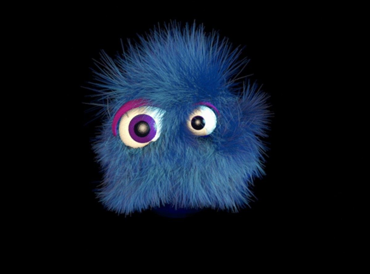 This Morning Monster by @elihooper reminds me of a Koosh ball. Anybody remember those? https://t.co/2LZ8QOmAnL https://t.co/PWp9ANkv1U