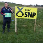 Another #SNP field poster goes up for #BothVotesSNP and @RHBruceCrawford 4 #Stirling #ImWithNicola says Cllr Lambie https://t.co/mJYsCXHLFg