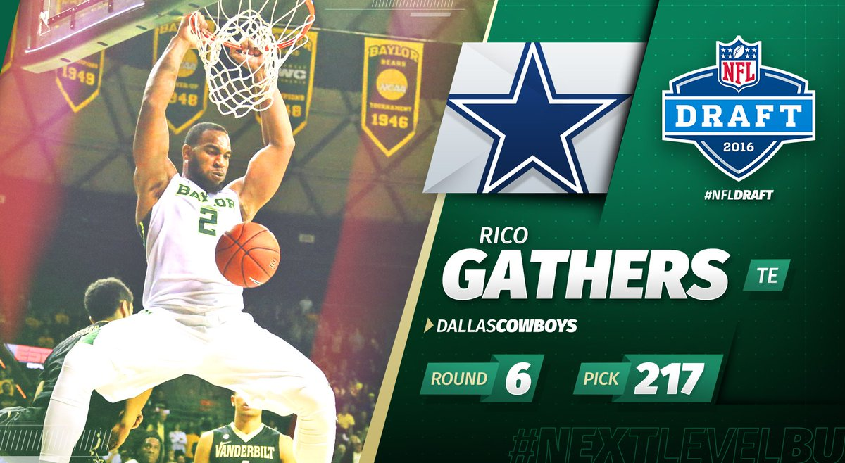 From @BaylorMBB to the @nfl. Rico Gathers is headed to the @dallascowboys. Congrats, Rico! #NextLevelBU #NFLDraft https://t.co/hRUJ5o4PIG