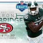 Congratulations Aaron Burbridge on being drafted by the San Francisco 49ers! #Spartans #NFLDraft https://t.co/E97EA7sRfm