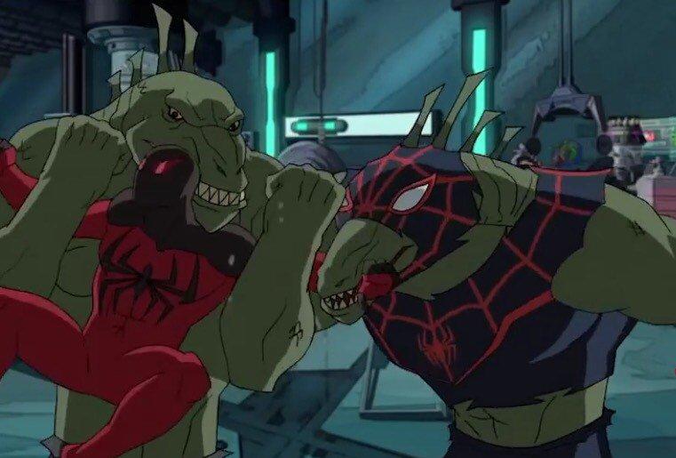 ケモナーの皆さんにはアルティメットスパイダーマンvsシニスターシックス(シーズン4)をオススメしたいですね。5話のリザー