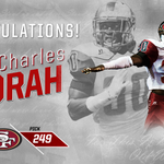 Prince is a Niner!  The @49ers select Prince Charles Iworah with the 249th pick! #ProTops https://t.co/SG9IqFqkFm