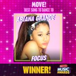 Breaking #RDMA news! #Focus by @ArianaGrande just won #Move!—Best Song to Dance to! https://t.co/tCEJBlNwWx