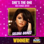 This just in, @selenagomez just won at the #RDMA for #ShesTheOne—Best Female Artist! https://t.co/gmmmZPn94H