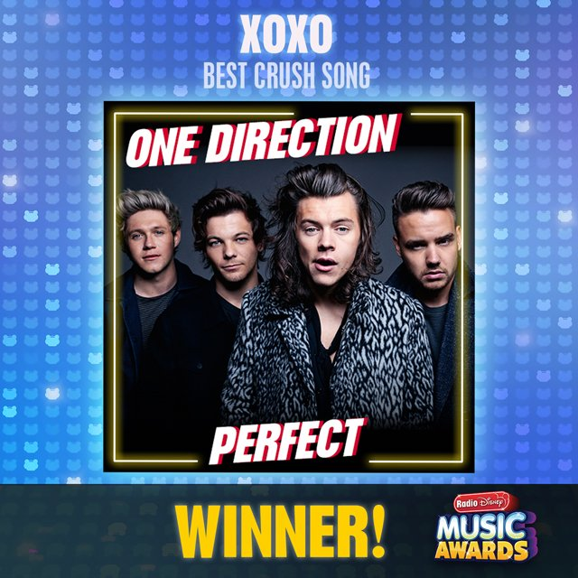 Congrats to @onedirection! Their song #Perfect just won #XOXO – Best Crush Song at the #RDMA! https://t.co/eq930fyULN