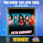 ...and the winner of the #RDMA for Best Music Group is @FifthHarmony! #YouKnowYouLoveThem https://t.co/Hu5NQsEleh