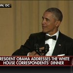 """.@POTUS: """"Last week Prince George showed up to our meeting in his bathrobe. That was a slap in the face."""" #WHCD https://t.co/ov7x5vUV8e"""