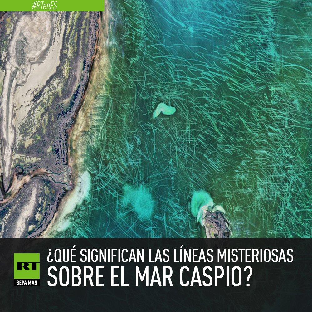 Imágenes satelitales muestran unas líneas extrañas sobre el mar ...