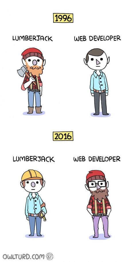 Lumberjack vs web developer (now and then) https://t.co/7cDddgLHf5
