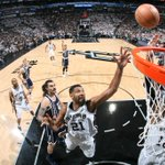 Spurs led by as many as 43. Its the 1st time in the Popovich era the Spurs led a playoff game by 40 or more Pts. https://t.co/yOdJ8GVAnT