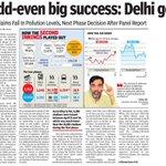 Odd-even big success: Delhi govt  #OddEvenMastHai https://t.co/iNusqDNtqz https://t.co/zbnt5b9Trf