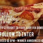 HUNGOVER? SKINT? NEED PIZZA?  We got you…  Win everything in this photo @ 8PM  RT + FOLLOW TO ENTER   #FREE #PIZZA https://t.co/nRevIowqTh