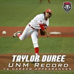 Congrats to @taylor_d42 on his UNM record 76th appearance! #GoLobos https://t.co/RliwxP3hjG