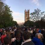 Made it half way along the bridge. #maymorning @bbcoxford Its looking packed. Good luck @dannycoxlive https://t.co/VC3WuIkCpp