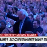 Obama gives shoutout to Sanders at #WHCD: https://t.co/WEpYxvakLV https://t.co/OT5Hh3cynu