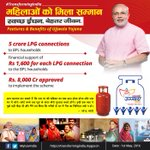 #TransformingIndia: Features of #PMUjjwalaYojna launched by PM Modi-LPG to all BPL families. https://t.co/CeDzsAI3Ix https://t.co/UXQa81evgC