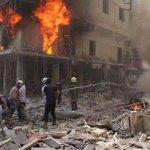 """ندعو بما دعا به عليه الصلاة والسلام :  """"اللهم املأ قبورهم وبيوتهم نارا"""" كما ملؤا بيوتنا نارا #حلب_تحترق #أغيثوا_حلب https://t.co/mR0ItVOu0a"""