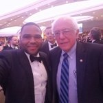 Gotta love @BernieSanders! Dressed like hes about to do someones taxes as favor. My man! #NerdProm #WHCD https://t.co/bdw8CITNX4