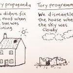 My cartoon - Tory propaganda vs Tory programme #r4today https://t.co/zj0NRZZ2yw
