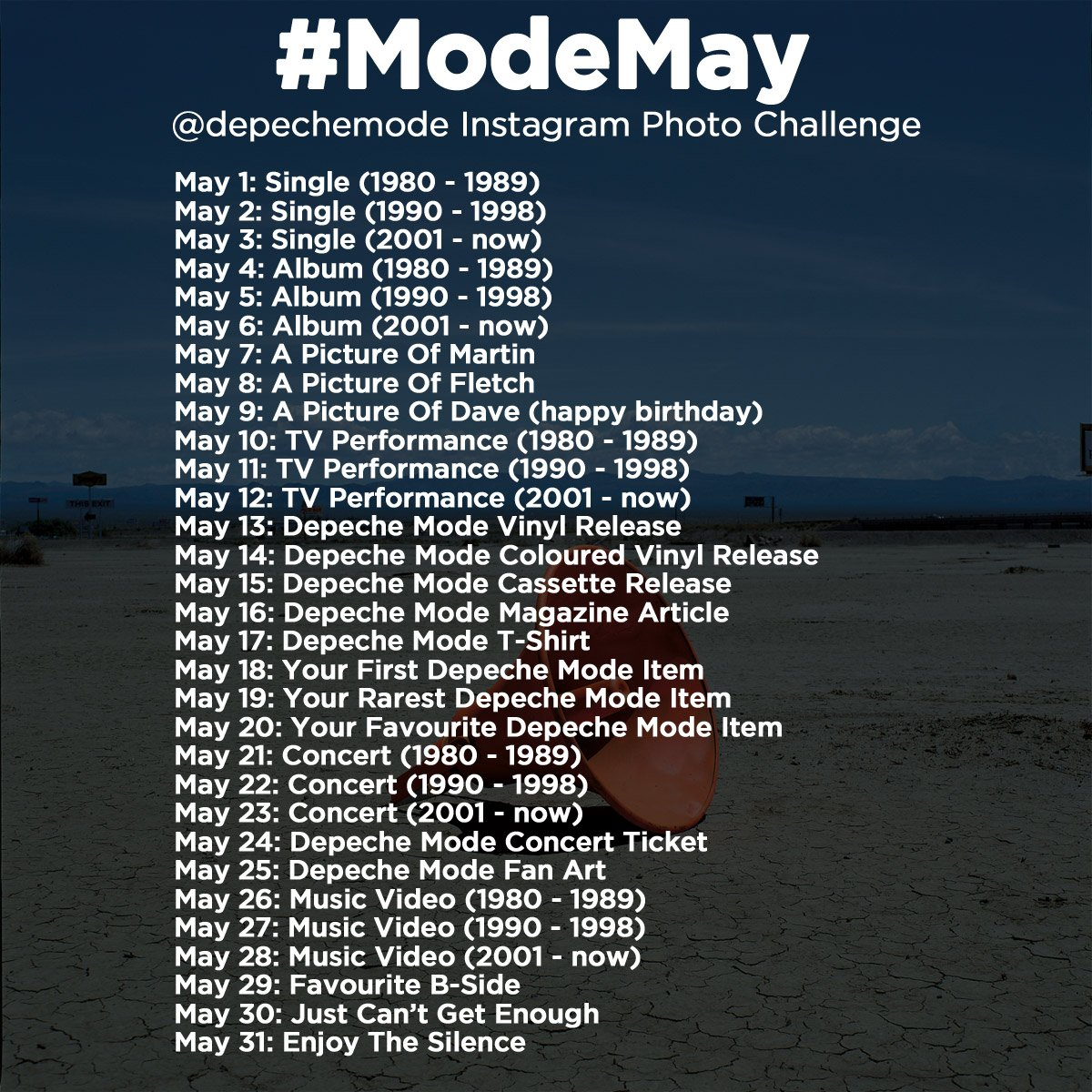 It is time for the #ModeMay photo challenge on Twitter and Instagram! Full details: https://t.co/Xxv9KlrmDG https://t.co/FrzsLI1Fcc
