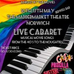 Get your tkts now for the Norwich Pride fundraiser cabaret extraordinaire! 16 & 17 May @Maddermarket @SPECIALK_KCM https://t.co/P3ne0QIfKu