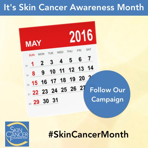 May is Skin Cancer Awareness Month. We're kicking off our campaign and fundraising drive tomorrow: #SkinCancerMonth https://t.co/zRrb00t77o