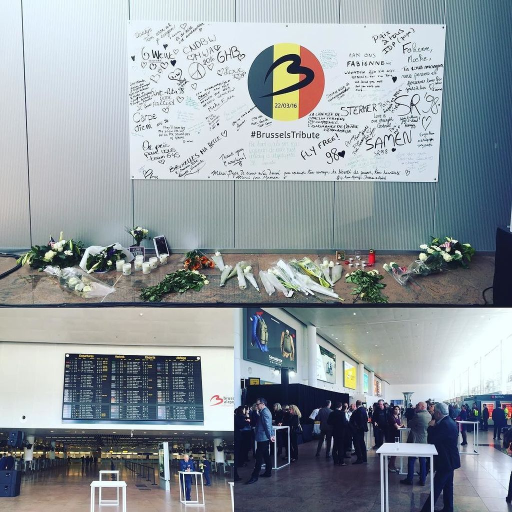 Today we're welcoming the first passengers back into the main brusselsairport departures …