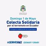 HOY compartamos con generosidad durante las misas en todas las parroquias. #seamosLuz #TerremotoEcuador #Ecuador https://t.co/VghZ1nZgQk