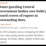 The Central Govt owes to Delhi Govt, not the other way round. https://t.co/ytRohCnhMQ https://t.co/JqBfceqrky