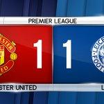 ???? MI-TEMPS ! Man. Utd 1-1 Leicester https://t.co/xDZnqwDYKZ