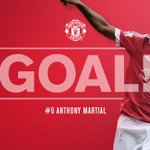 8 - GOAL! #mufc 1 Leicester 0. @AnthonyMartial scores again! https://t.co/RfoPblicEh