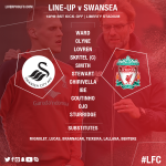 The #LFC starting line-up and bench for todays meeting with @SwansOfficial https://t.co/2NF0d2Eb0D