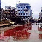River of blood in Syria But no one cares because its not Paris. https://t.co/shew8Qu9dz