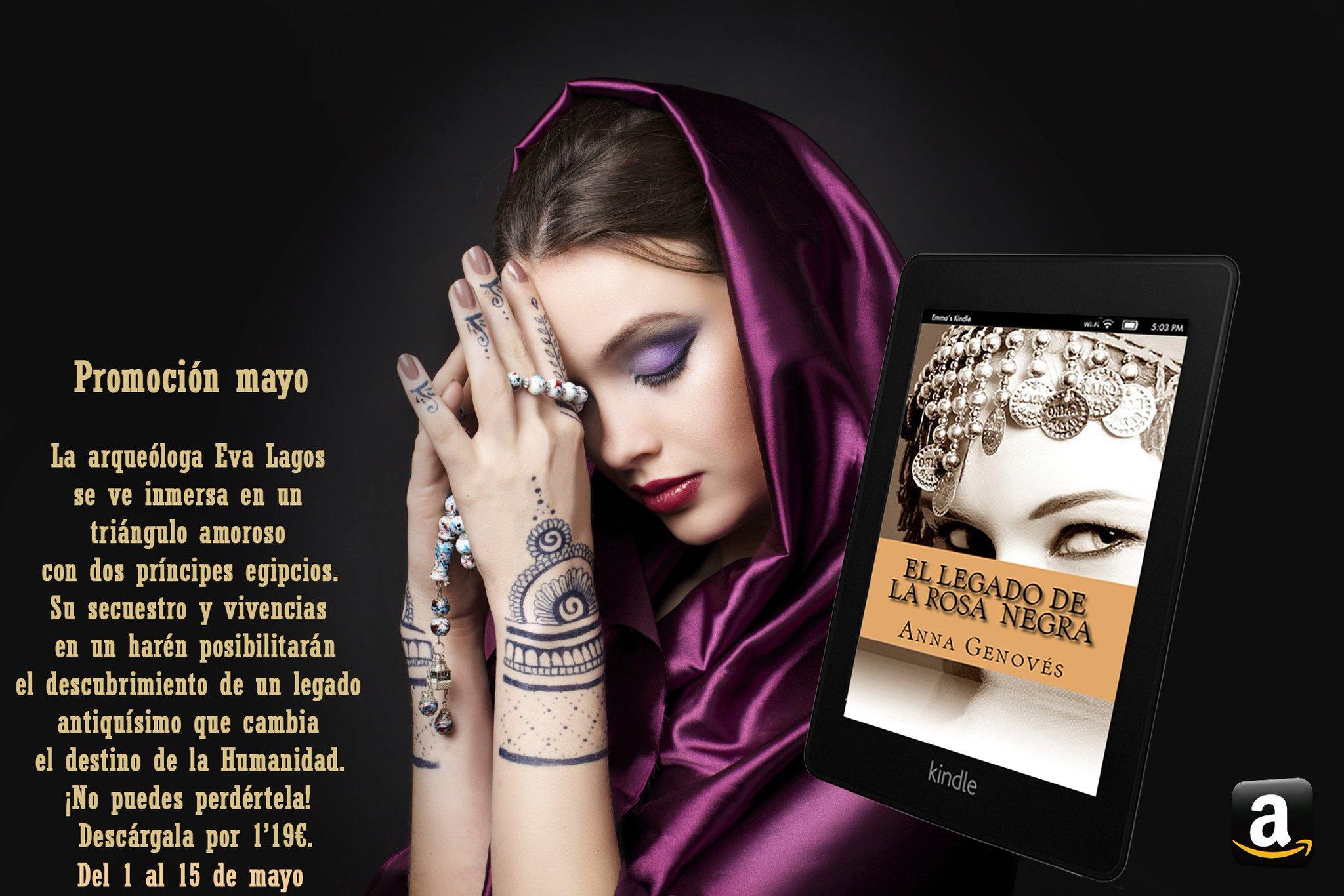 Hasta el día 15 de mayo puedes descargar por 1'19€ la novela 'El legado de la rosa'. https://t.co/4xXu3lAgQE https://t.co/ERxzceo3dh